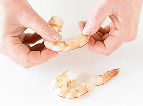 How to peel a prawn - step 3